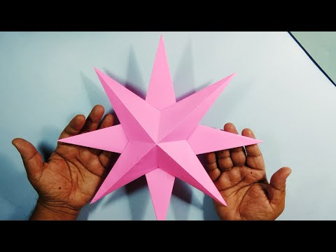 🎅 How to make Simple 3D Paper Stars for Christmas decoration 🎅 🌟 🎅|| How to make Paper Star🎅