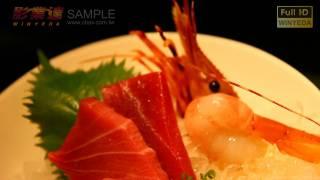 Full HD 1080p Music  Viedo  FOOD美食 饗宴 擺盤 生魚片 蝦  (6)影片  素材BC024