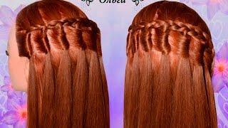 """Прическа """"Водопад из узелков"""". Hairstyle Kapralova Olga"""