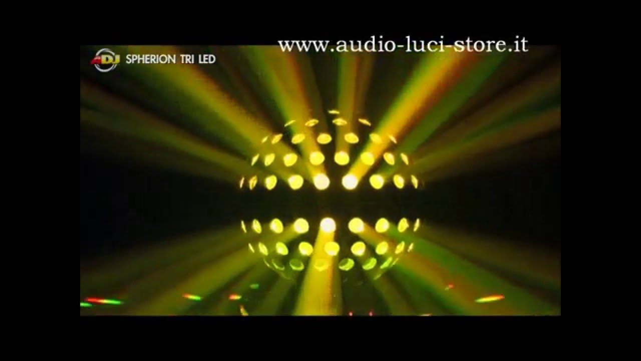 Palla da discoteca a led luci colorate di grande effetto youtube
