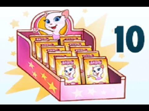 Моя говорящая Анжела – #114 - 50 наклеек .  Детский игровой мультик для детей! Talking Angela