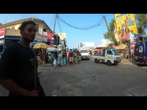 ACCRA GHANA OLD UAC HEAD OFFICE AND MAKOLA 4K60