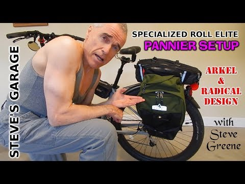 Pannier Setup for Specialized Roll Elite Bicycle