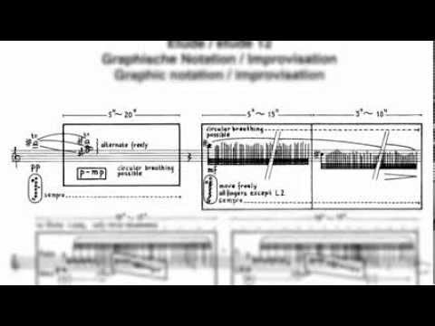 Etude 12 Graphic - Improvisation, For the Contemporary Flutist, Wil Offermans