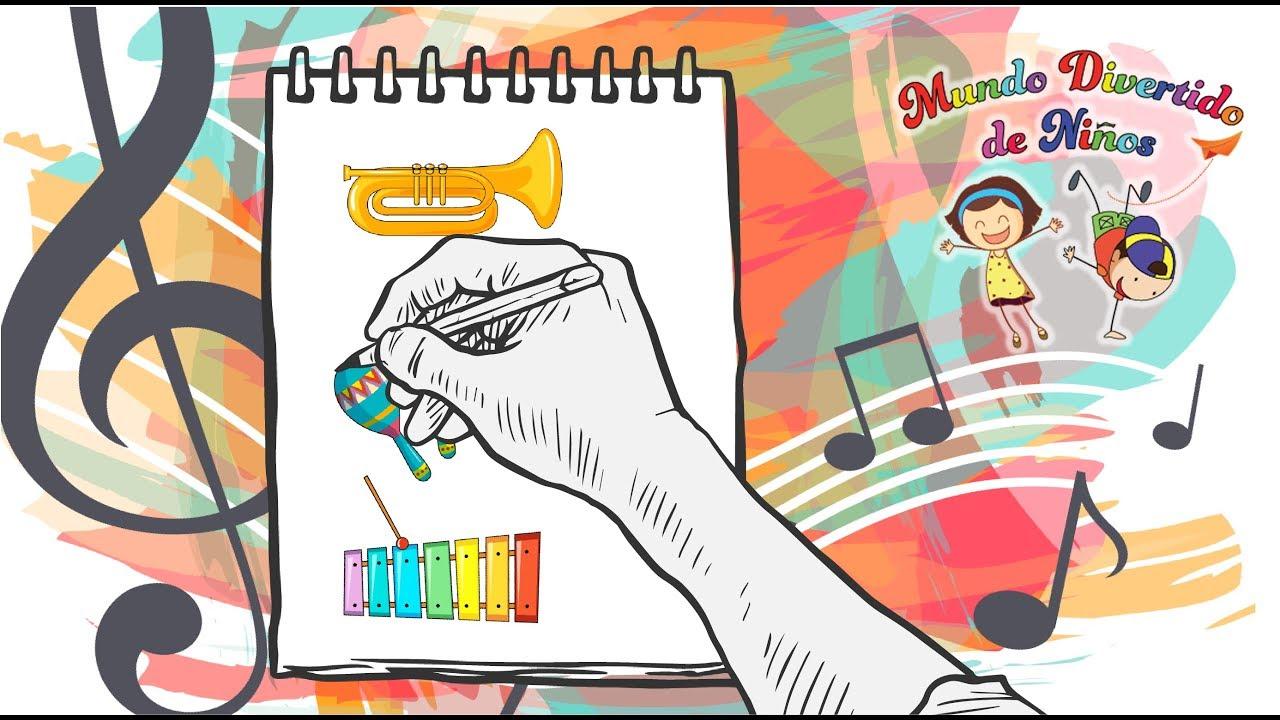 Como Dibujar Instrumentos Musicales Trompeta Dibujo