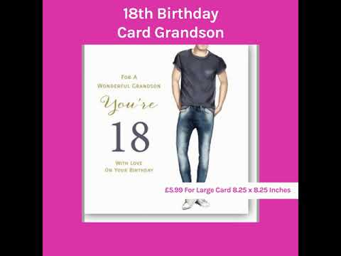 18th Birthday Card Grandson