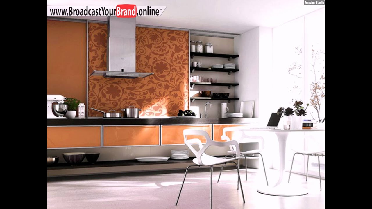 orange k che k chenr ckwand tapete st hle youtube. Black Bedroom Furniture Sets. Home Design Ideas