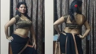 Drape A Saree Like Madhuri Dixit In Sailaab, Koli Style , Song: Humko Aaj Kal Hai Intezaar