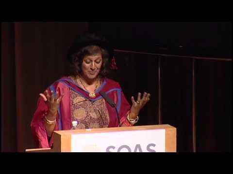 Honorary Doctorate: Ms Meera Syal MBE, 2013 Graduation, SOAS, University of London