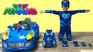Learn Sizes with PJ Masks Cat Cars Playtime Fun Kids Video TBTFUNTV