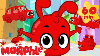 Video Morphle And The Vehicles  (+1 hour funny Morphle kids videos compilation with cars, trucks, bus etc) download MP3, 3GP, MP4, WEBM, AVI, FLV Desember 2017
