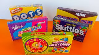 Candy Unboxing | Dots, SweeTarts, Skittles, Charleston Chews & Cry Baby Chewy Candy