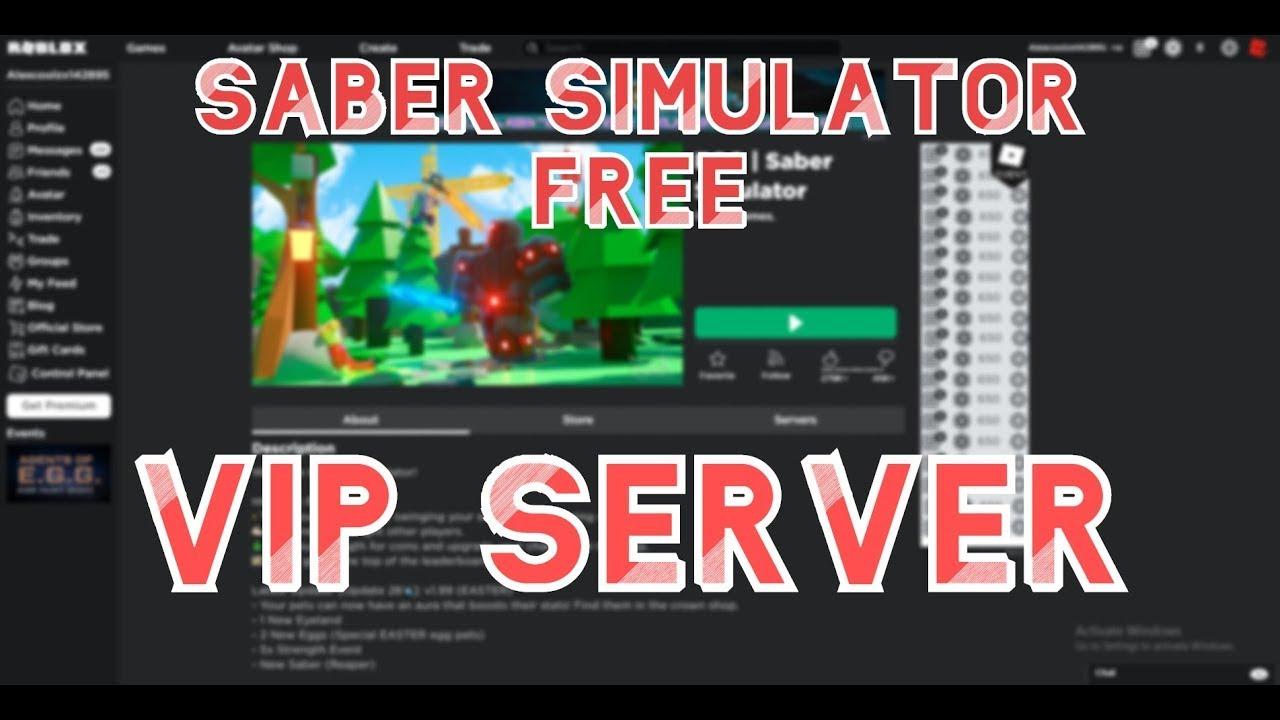 Roblox Pet Simulator Vip Servers Roblox Saber Simulator Free Vip Server Link In Desc Youtube