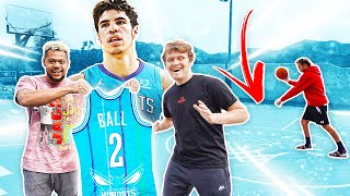Recreating LaMelo Ball's CRAZIEST Shots for Rare NBA Draft Jersey