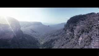 Camera Projection - Black Hawk in Blue Mountains