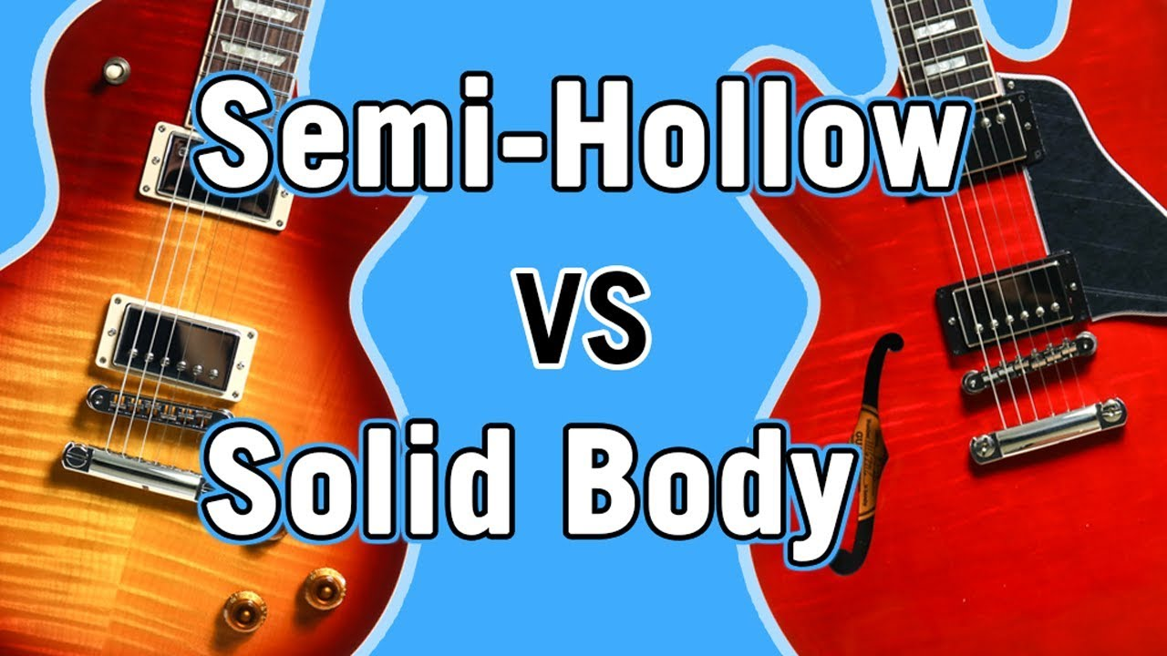 Semi Hollow Vs Solid Body Tone Comparison Youtube