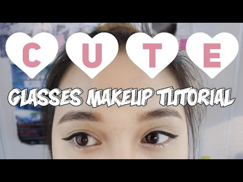 Cute and Natural Glasses Makeup Look Tutorial | & Firmoo Review
