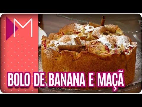 Bolo de banana com maçã - Mulheres (08/03/18)