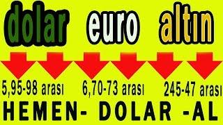 DOLAR DÜŞTÜ | EURO DÜŞTÜ | ALTIN DÜŞTÜ | 1 MİLYAR DOLAR SATIŞ GECE ASYA BORSASINA | DOLAR NE OLACAK