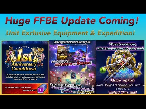 HUGE Final Fantasy Brave Exvius Update Coming This Week! Story Unit Exclusive Equipment & Expedition