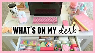 My Desk Essentials ♡ Desk Tour 2015! ThatsHeart
