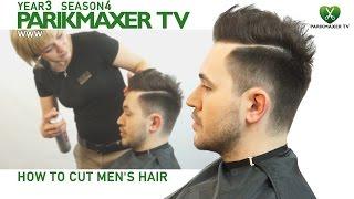 Мужская стрижка в стиле сайкобилли Men's Hair Styles With Side Parting.  парикмахер тв parikmaxer.tv