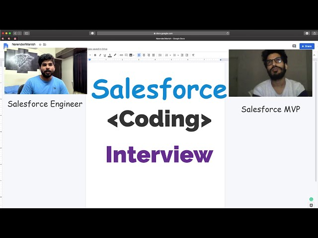 Salesforce Coding Interview with Salesforce MVP | Part 2 | By Salesforce Engineer