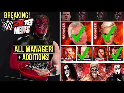 WWE 2K18 News: BREAKING! All MANAGERS CONFIRMED, All ADDITIONS & ALL ALT SLOTS/ATTIRES [#WWE2K18]