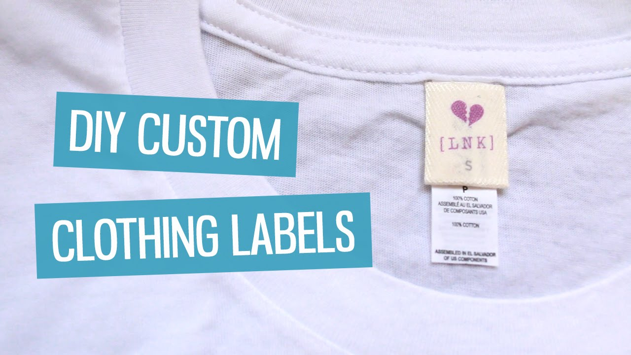 Diy custom clothing labels charlimarietv youtube