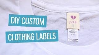 DIY custom clothing labels | CharliMarieTV