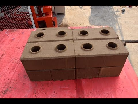 HR1 25 Diesel power hydraulic press eco mud earth soil clay interlocking brick making machine