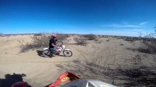 "Riding dirt bikes in California City "" At War With The World"" Foreigner"