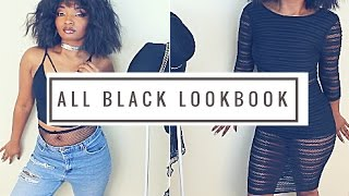All Black Lookbook for Slim Thick Girls