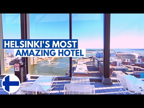 Clarion Hotel [Helsinki, Finland]: Amazing Rooftop Pool With City View | FULL TOUR