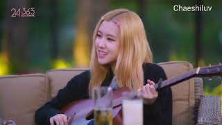 Rosé is playing guitar -You & I,Lonely (2ne1) cover by BLACKPINK,Price tag cover by Rosé & Jennie