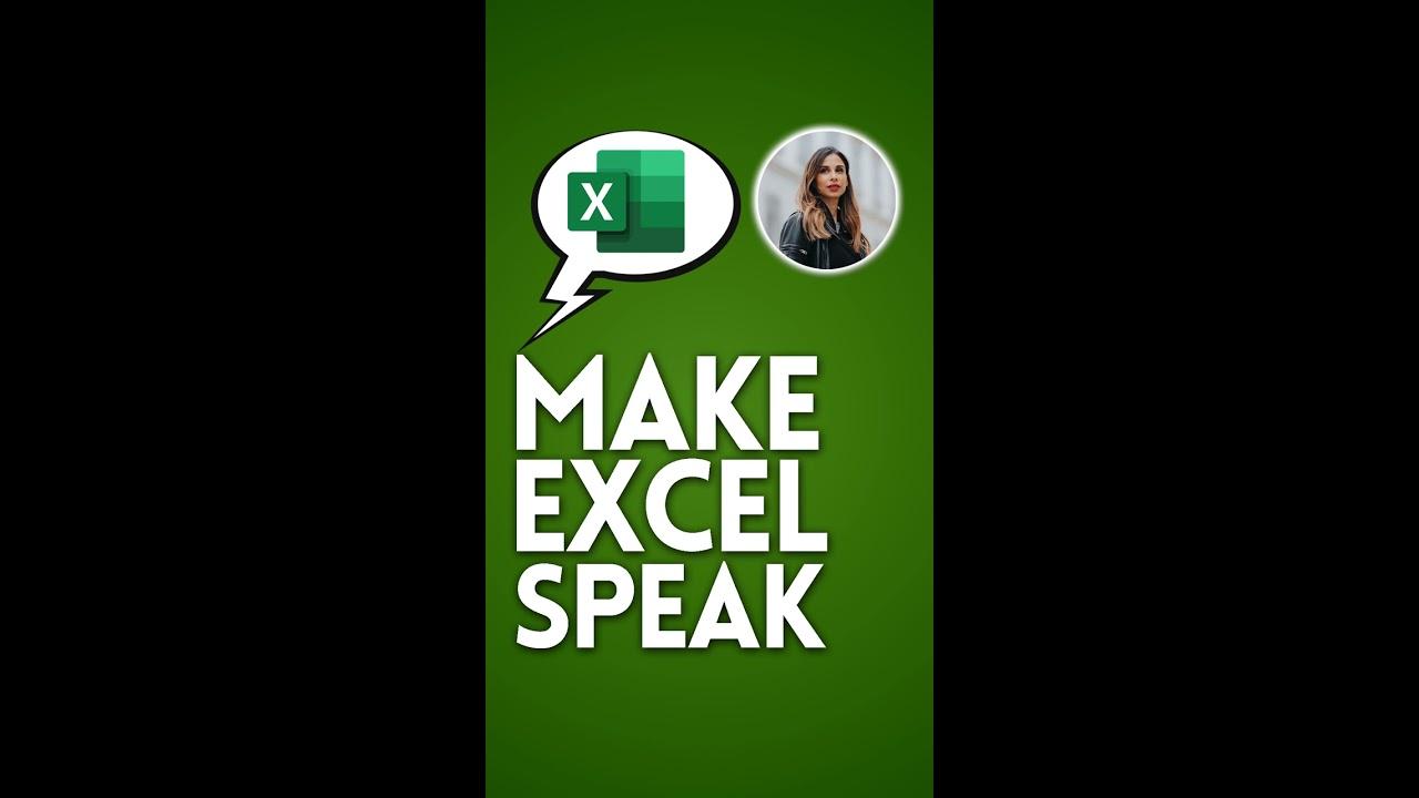 Make Excel Speak | Excel Trick #Shorts