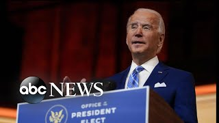 Biden urges people to be safe in Thanksgiving message