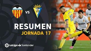 Resumen de Valencia CF vs Cádiz CF (1-1)