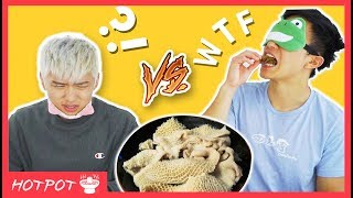 EATING 7 WEIRD CHINESE STREET FOODS BLINDFOLDED