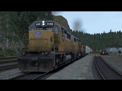 Train Simulator Feather River Canyon Scenario Pack 1: UP SD40-2 - 9: Union Pacific Symbol TGW