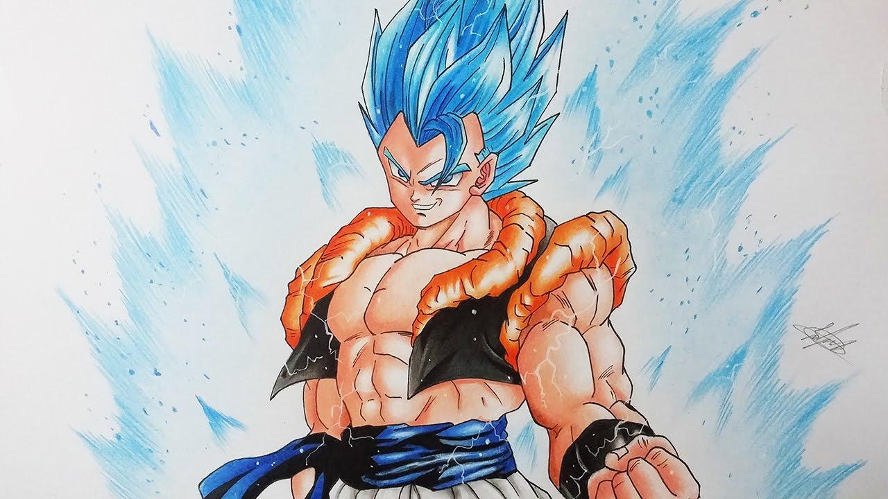 Drawing Gogeta Super Saiyan God Super Saiyan Gogeta Super Saiyan