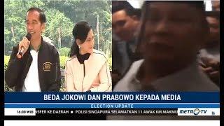 Beda Jokowi dan Prabowo kepada Media