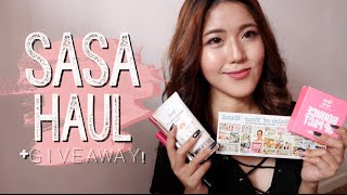 Sasa Beauty Haul   Giveaway!   Thatxxrin