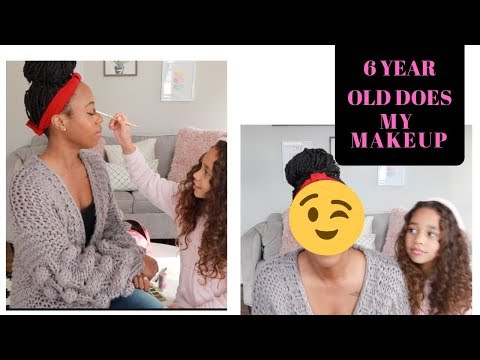 MY 6 YEAR OLD DOES MY MAKEUP | Vlog