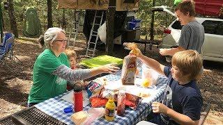 Camping at Petit Jean State Park in Arkansas