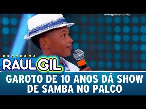 Garoto De 10 Anos Dá Show De Samba | Programa Raul Gil (29/07/17)