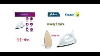 Philips HI114 Dry Iron (White) Unboxing & Review 2018 | Flipkart