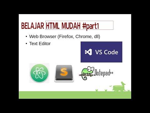 Belajar HTML Mudah #Part1