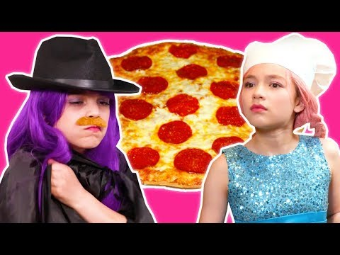 PRINCESS PIZZA PARTY 🍕 Malice Pranks Lilliana With Cheese! - Princesses In Real Life | Kiddyzuzaa