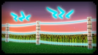 ✔ Minecraft: How to make a Working Electric Fence